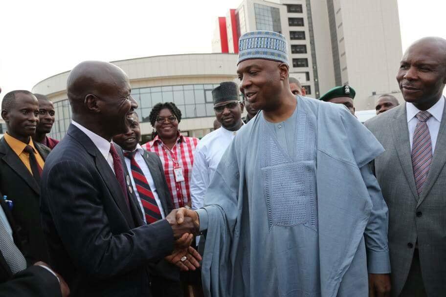 Senate President, Saraki Commends New EFCC Building