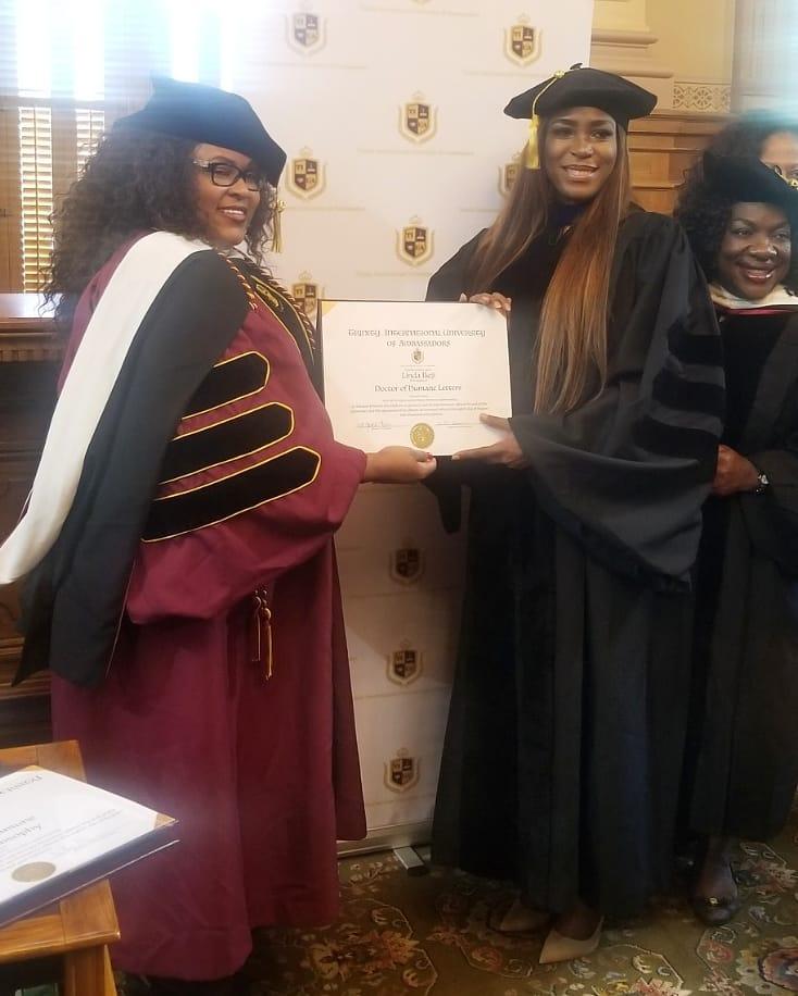 Georgia Varsity Confers Linda Ikeji with Honorary Doctorate Degree