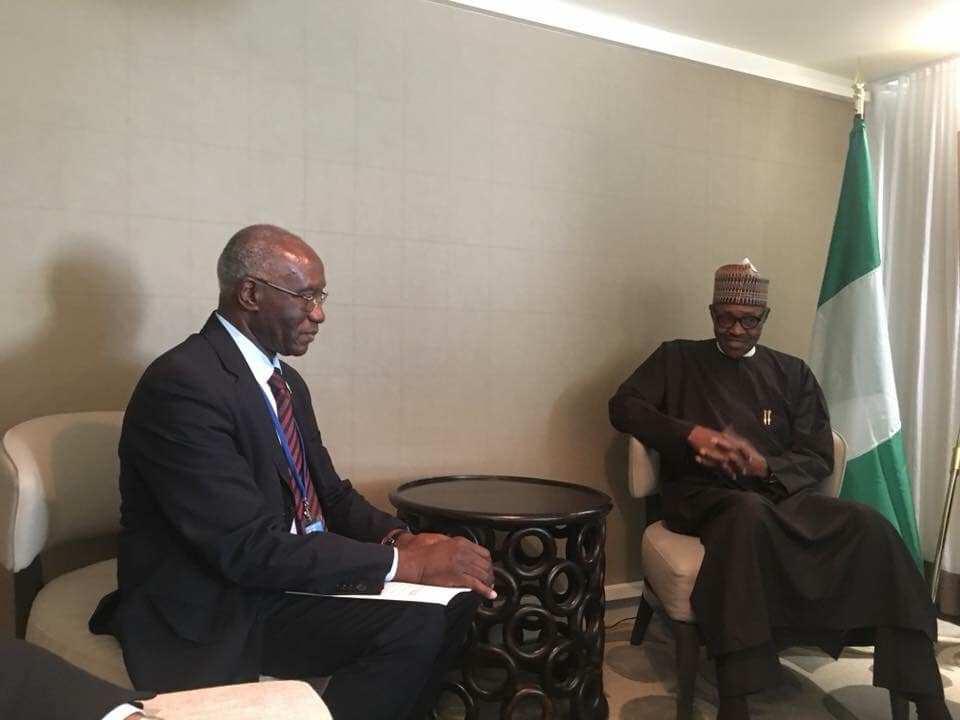President Buhari Meets, Congratulates First Blackman Elected Senator In Italy