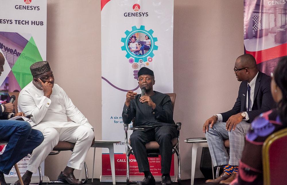 Vice President Yemi Osinbajo Lauds Gov Ugwuanyi On Entrepreneurship Programmes