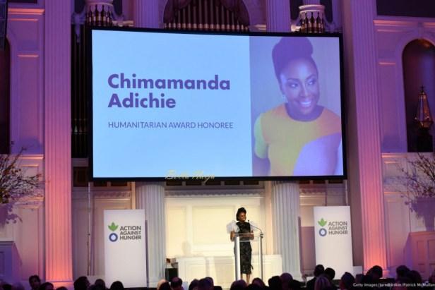 Chimamanda Ngozi Adichie receives Humanitarian Award
