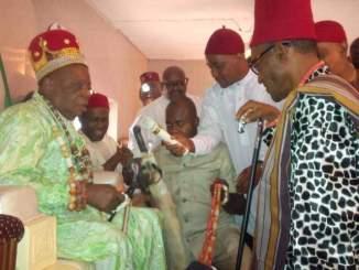 President Buhari Greets Enyi 1 Of Aba, Eze Ikonne At 90