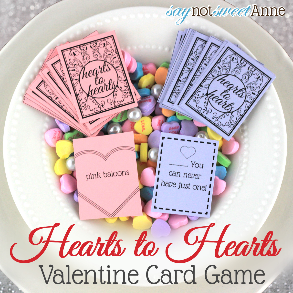 Hearts To Hearts Printable Card Game