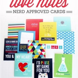 """Talk Nerdy To Me"" Printable Love Notes by The Dating Divas"