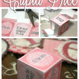 Printable Cupid Dice Game by Saynotsweetanne