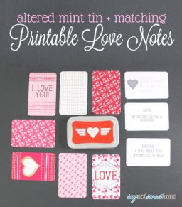 Printable Love Notes by Saynotsweetanne