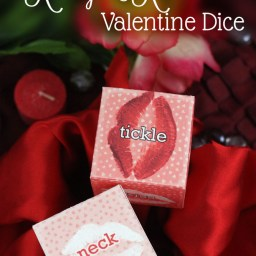 Racey and Romantic Valentine's Dice by Saynotsweetanne