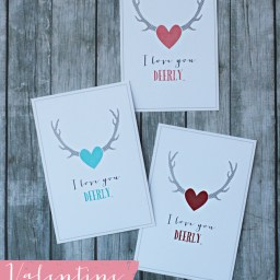 Valentine Printables- I Love You Deerly by Landeelu