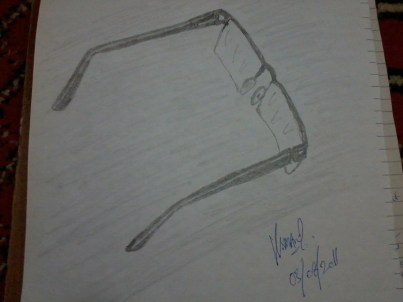 Sketch of Eyeglasses by Usman Zafar Paracha