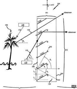 HP's patent shows that how the display and behind the screen could be seen at the same time
