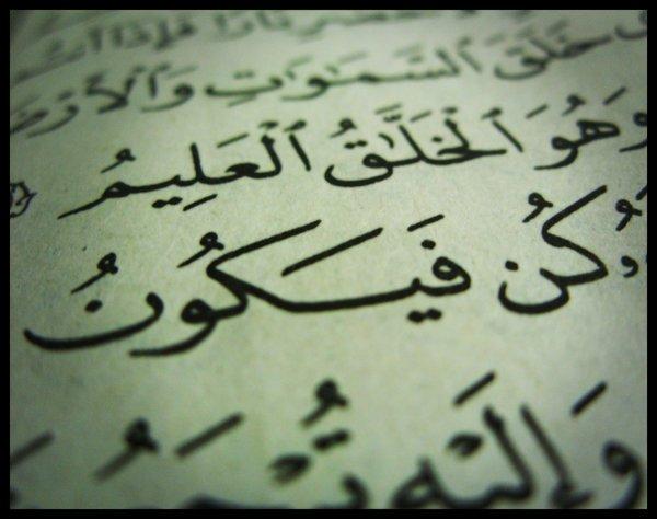 """The phrase """"KUN FAYAKUN"""" in Qur'an Majeed"""