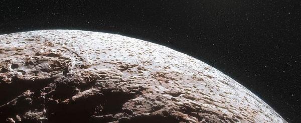 Artist's rendition of the dwarf planet Makemake (Credit: Nick Risinger and L. Calçada, ESO)