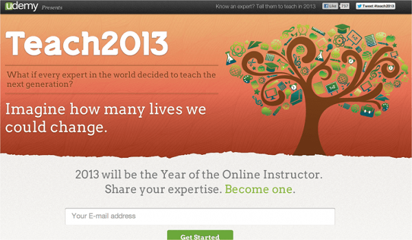 Udemy Teach2013 screenshot