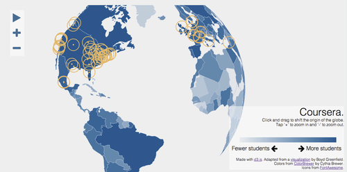 Coursera users in the world (Credit: Coursera)