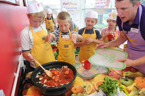 Food preparation by children (Source: tescoplc.com)