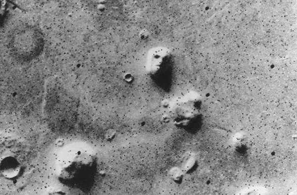 Faces on Mars (Source: NASA/JPL-Caltech)