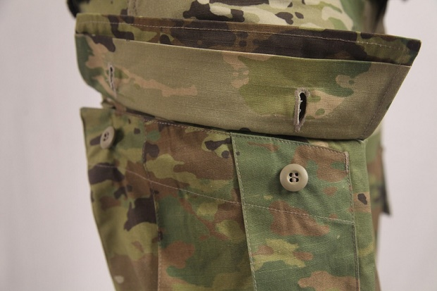 Button on military uniforms (Image source: usa.gov)