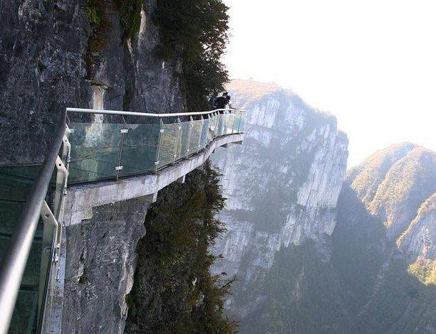 Glass walkway 'bridge' at china's tianmen mountain park (Source: Anonymous)