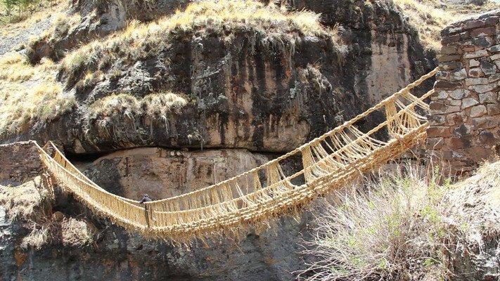 Keshwa Chaca, Peru – Oldest Surviving Inca Rope Bridge (Source: Slate.com)