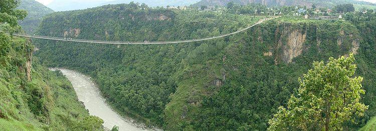 Kusma Gyadi Suspension Bridge, Nepal (Image source: altinotu.blogspot.com)