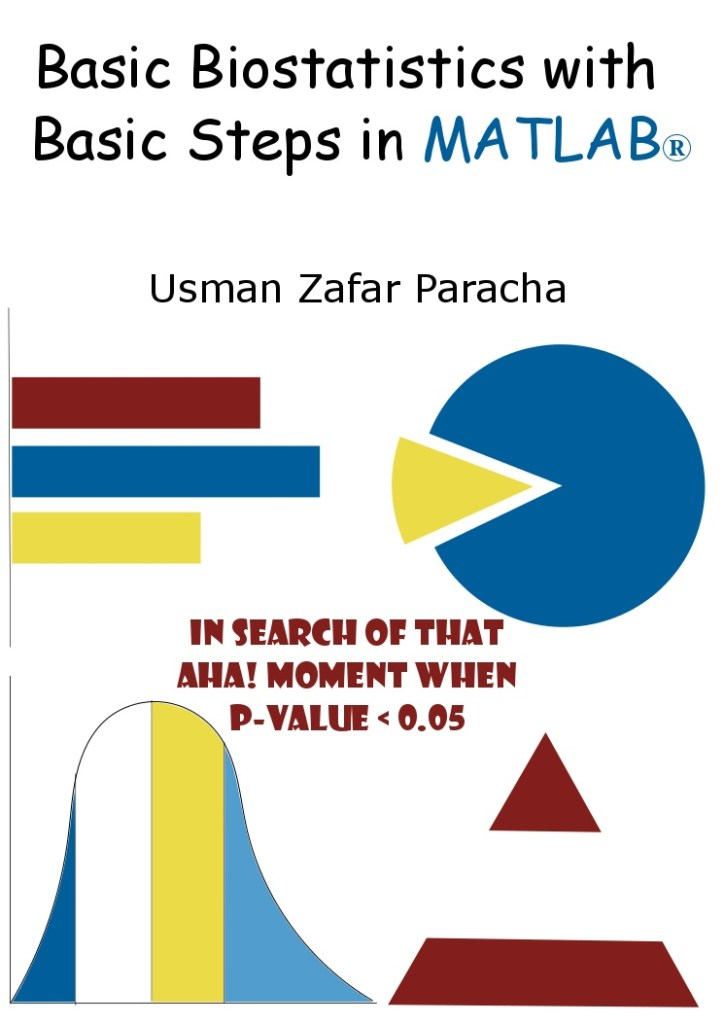 """""""Basic Biostatistics with Basic Steps in MATLAB®"""" - Cover Page"""