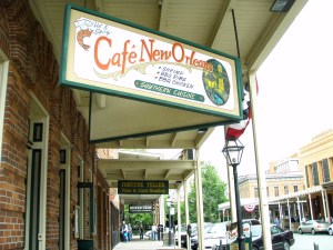 Cafe New Orleans at Old Sacramento, California.
