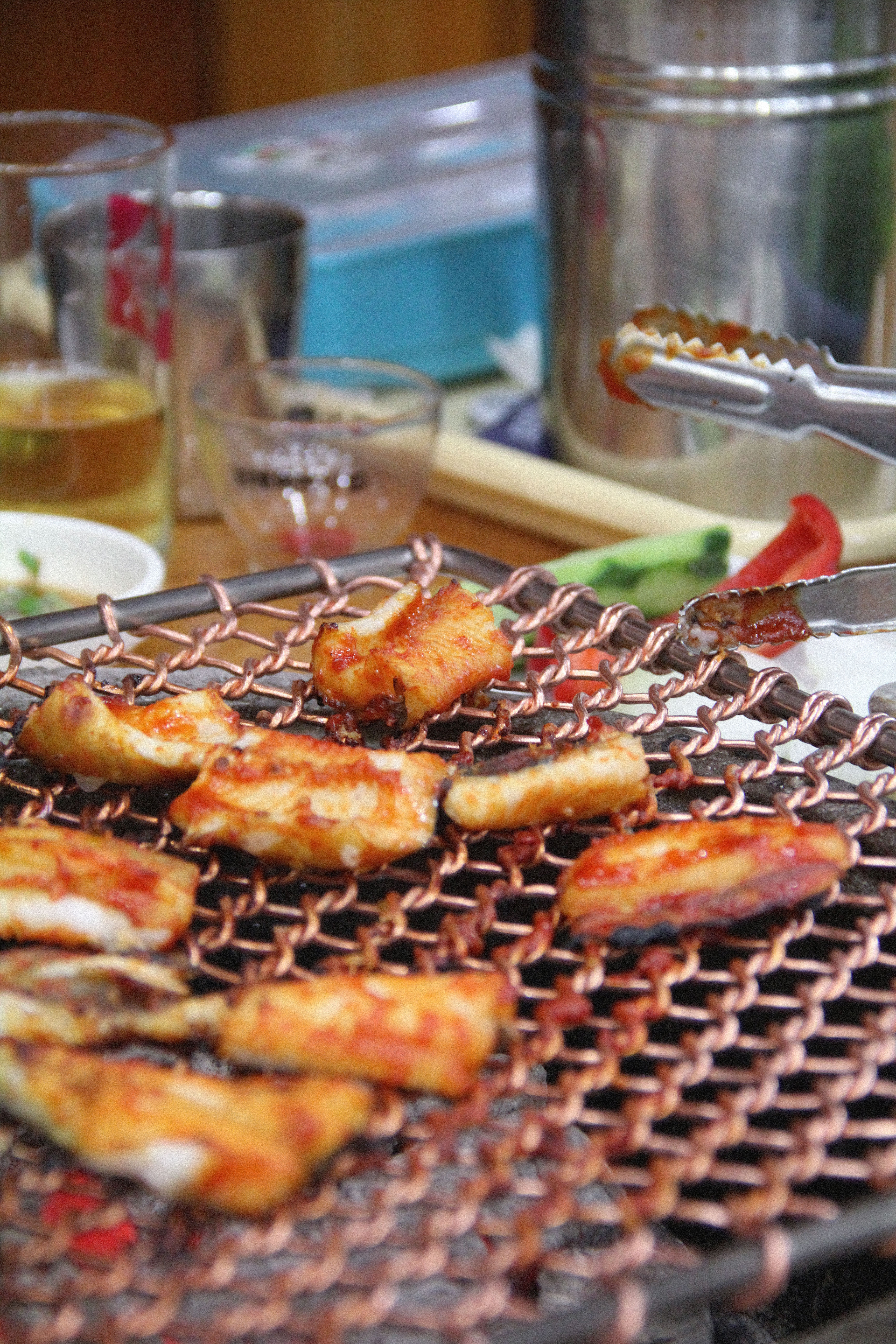 Grilled eels at Suncheon, South Korea.