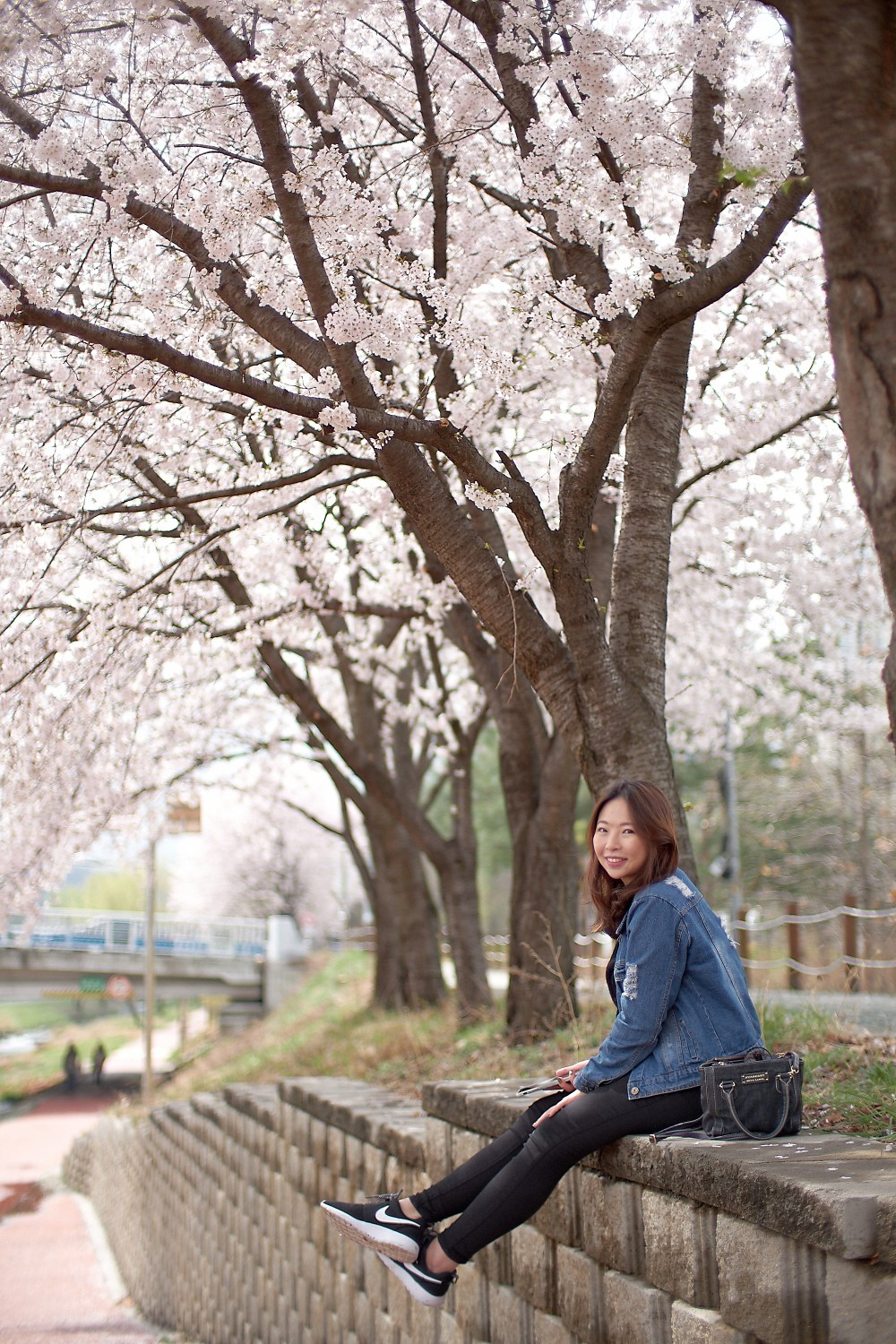 Portrait photo in Seoul, South Korea during spring.