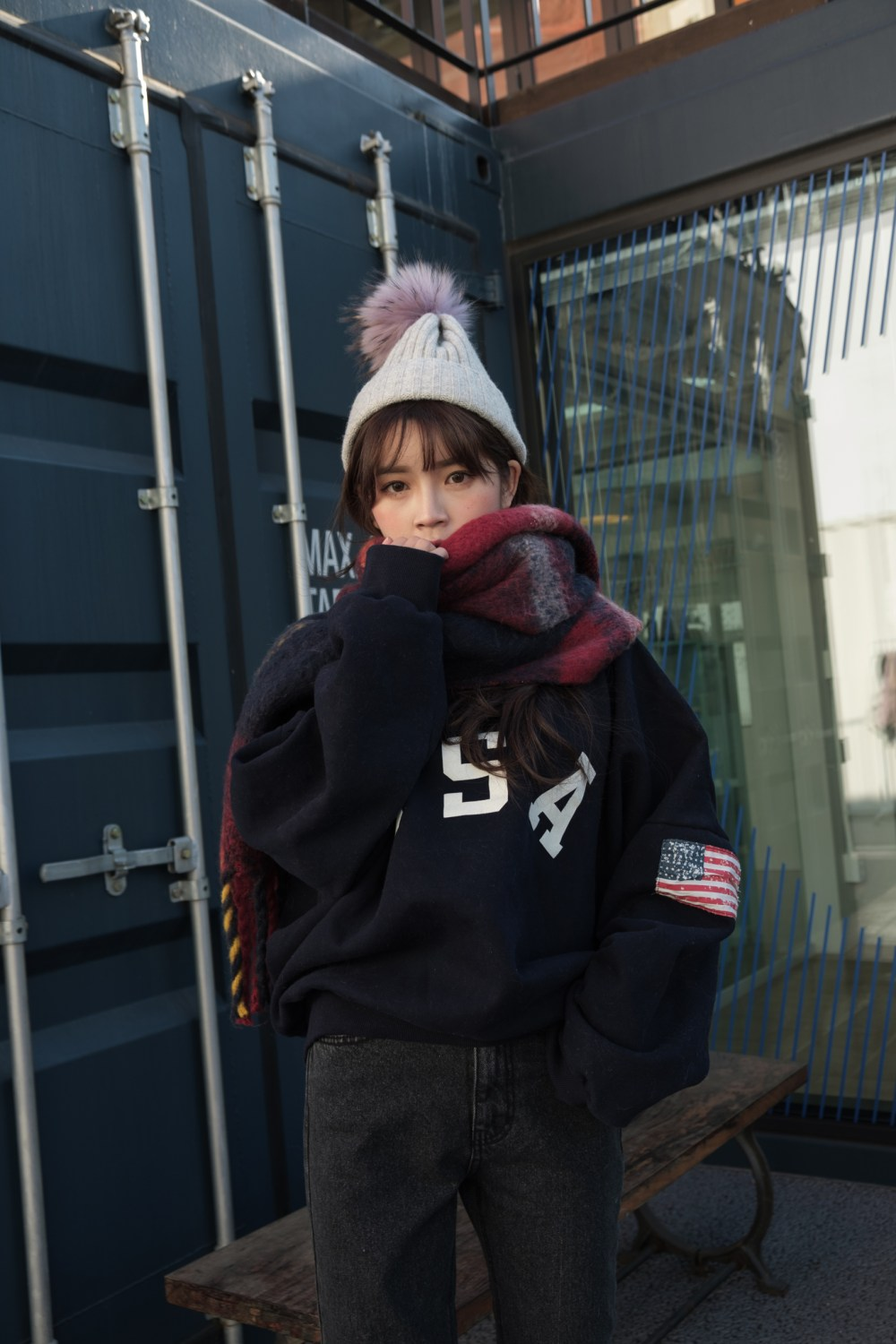 Street Fashion Photoshoot January Winter Lookbook in Seoul South Korea