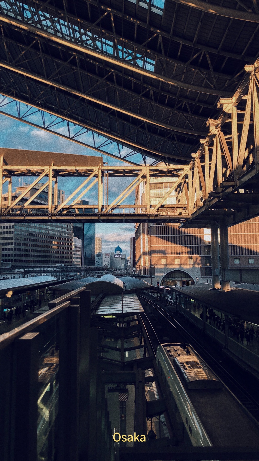 Osaka Station at Sunset