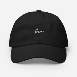 Black Embroidered Champion Cap (Love)