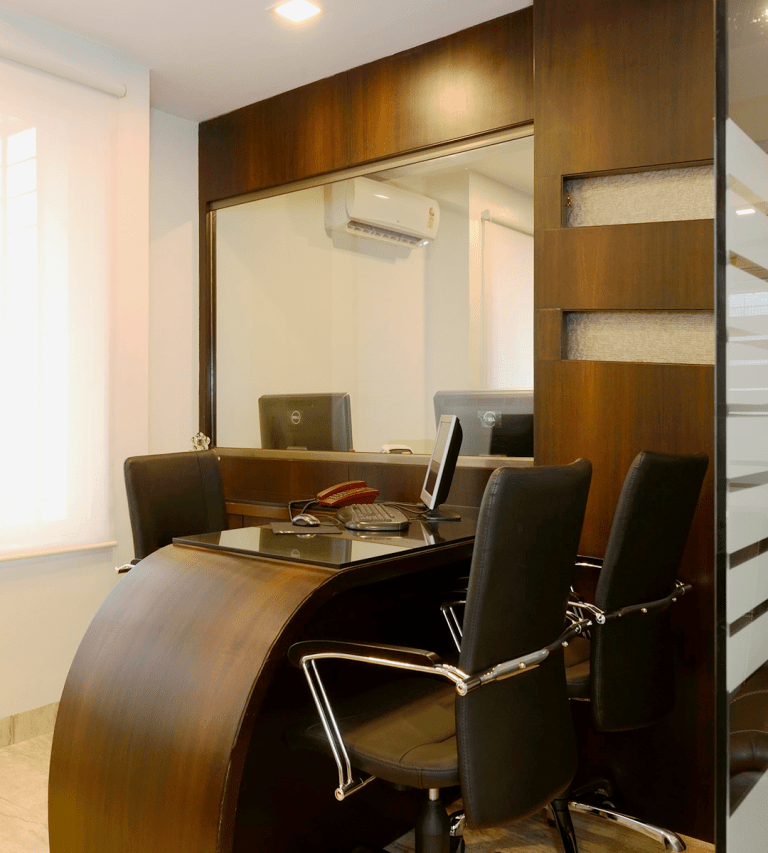 Commercial Project - Office Reception Interior Design by Sayyam Interiors