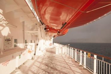 Hurtigruten outer deck