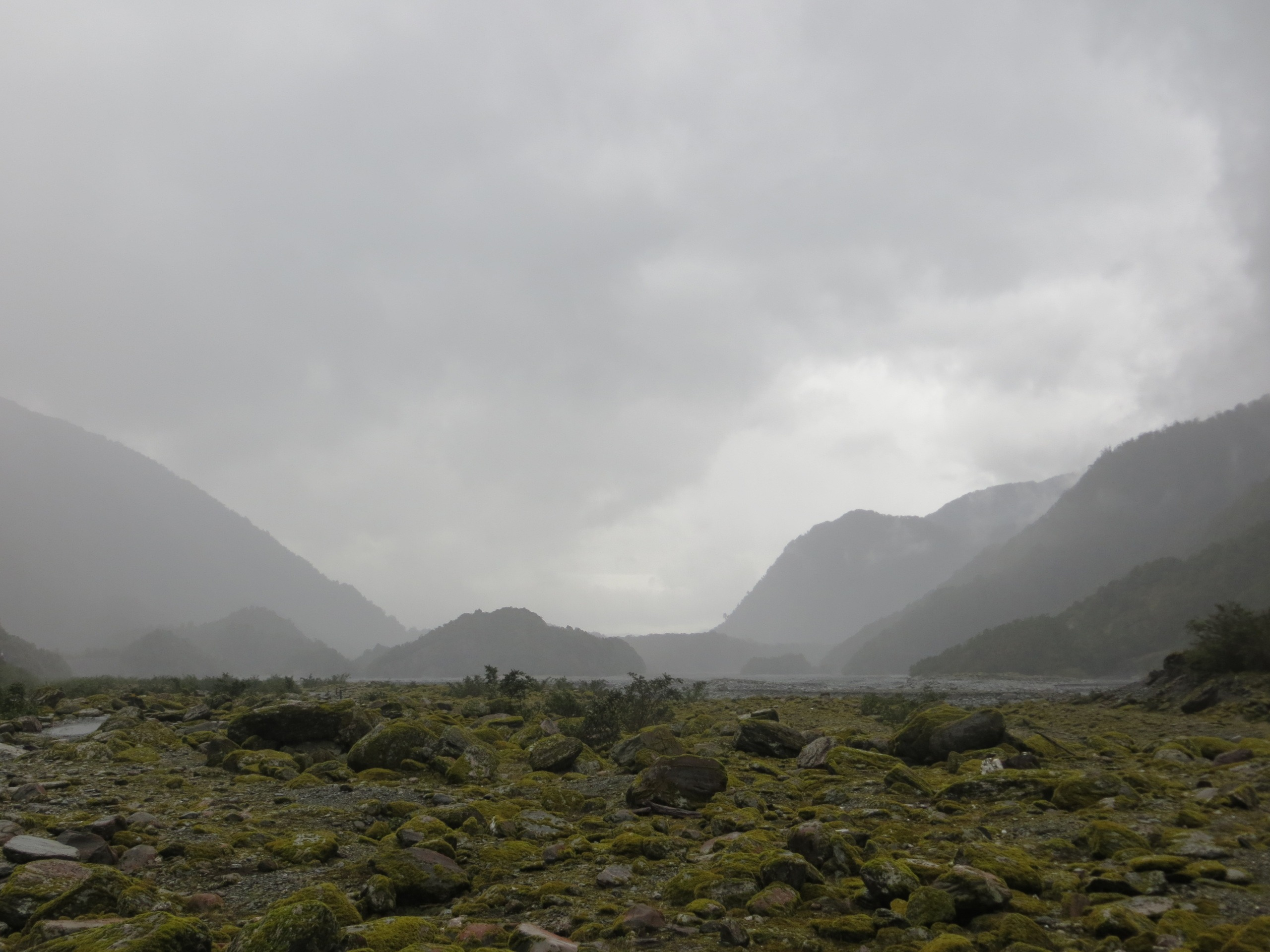 Valley and grey skies