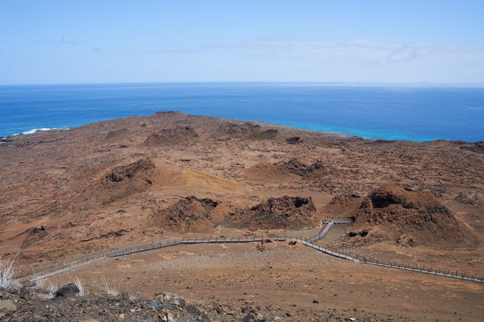 The craters of Bartolome Island