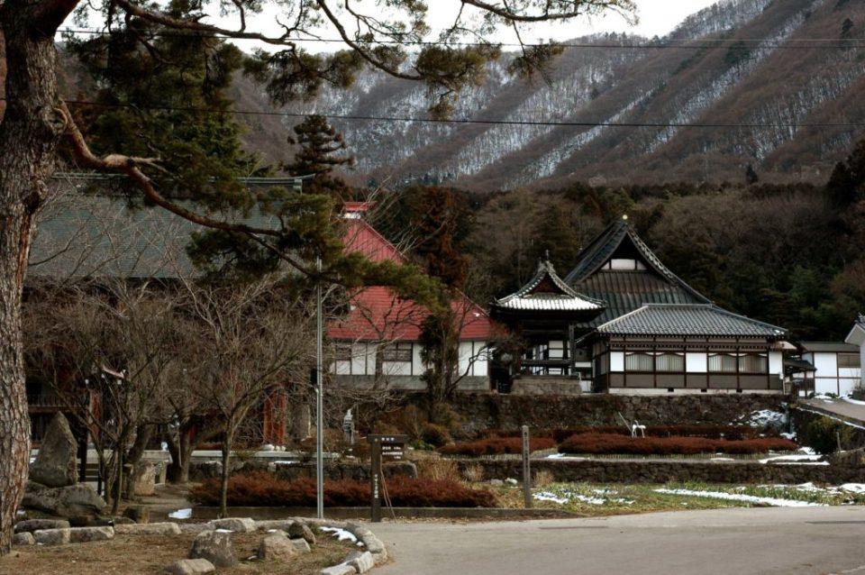 Obuse town in Japan