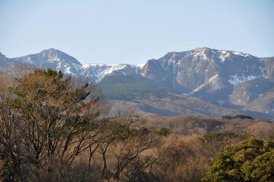 Mt Hallasan on Jeju Island