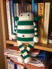 Pattern from Rebecca Danger's 'The Big Book of Knitted Monsters'