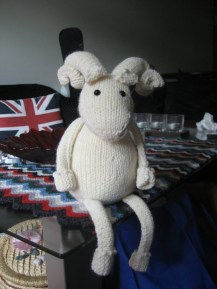 Sheep Toys by Janice Anderson, available on the Rowan website