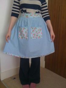 Basic apron made with Cath Kidston fabrics