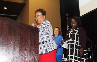 Former Assembly Member, Cheryl Brown, Board of Supervisors Member, Josie Gonzales, & City of Fontana Mayor, Acquanetta Warren. Photo by John Coleman
