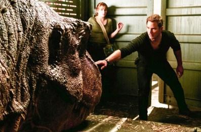 "FALLENKINGDOM_001 Bryce Dallas Howard (left) and Chris Pratt star in ""Jurassic World: Fallen Kingdom."" (Universal Pictures)"