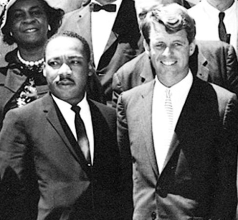 "22 June 1963 - Martin Luther King meets with Attorney General, Robert F Kennedy. White House. Credit: Abbie Rowe, National Park Service/JFK Library, Boston""."