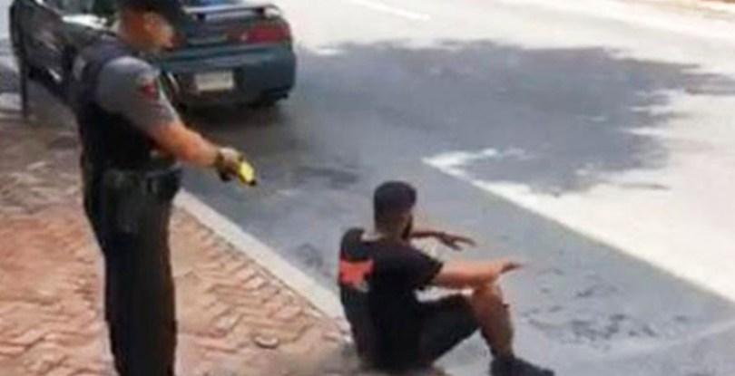 Cop pulls uses stunt gun on unarmed black man