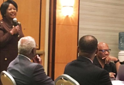 Her Excellency Dr. Arikana Chihombori-Quao, ambassador for the African Union, addressed the Council of AME Bishops the day before the press conference.