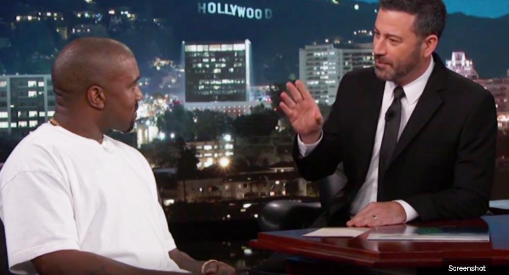 Kanye and Jimmy Kimmel