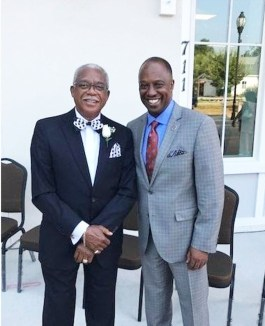 Beaufort County Black Chamber of Commerce President and Larry Holman alongside U.S. Black Chambers President Ron Busby.