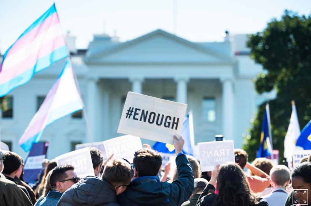 Protests on judge transgender decision