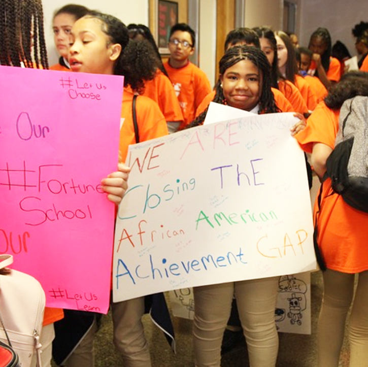 Photo: Charter students at the State Capitol March 13, 2019 at the advocate rally.