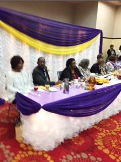 Emmanuel Temple CME Church congregants enjoying a meal and fellowshipping.
